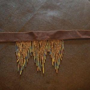 Boho fringe choker necklace